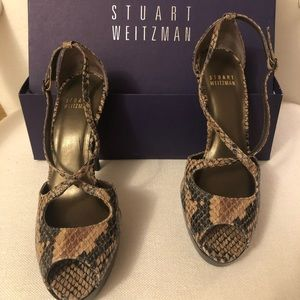 "Stuart Weitzman ""Exert"" Painted Snake shoes"
